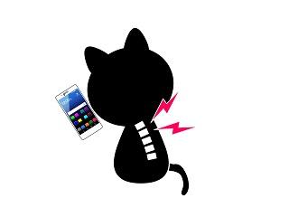 スマートフォンとストレートネック